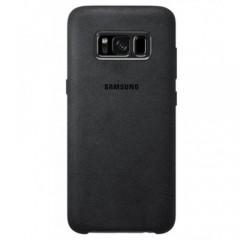 """Originalus juodas dėklas """"Alcantara Cover"""" Samsung Galaxy S8 telefonui ef-xg950ase"""