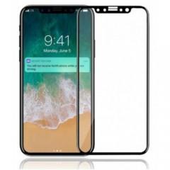 Lenktas juodas apsauginis grūdintas stiklas Apple iPhone X telefonui