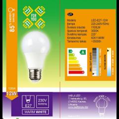 led lemputes E27 12W