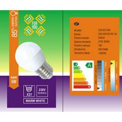 led lemputes E27 6W( atitikmuo 60W senos lempos !!!)